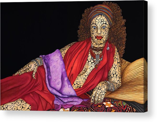 Surrealism Acrylic Print featuring the painting Magdalena by Tina Blondell