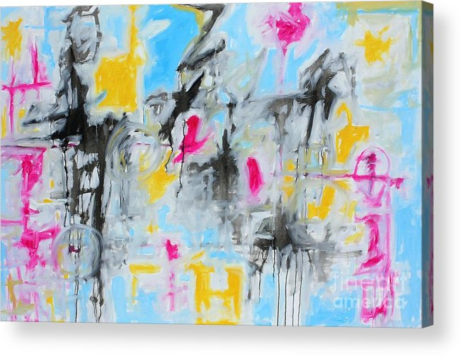 Painting Acrylic Print featuring the painting Magenta Abstract II by Michael Henderson