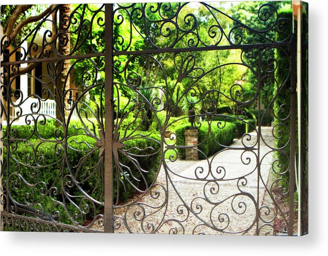 Photo Acrylic Print featuring the photograph Magnolia Gate by Alan Hausenflock