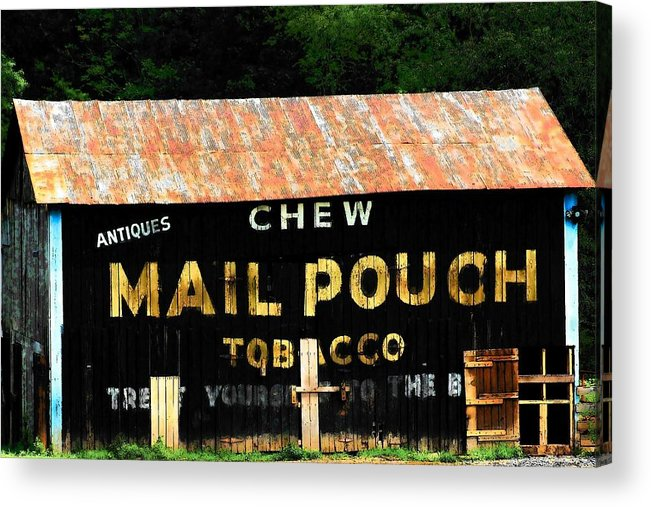 Mail Pouch Acrylic Print featuring the photograph Mail Pouch by Michael L Kimble