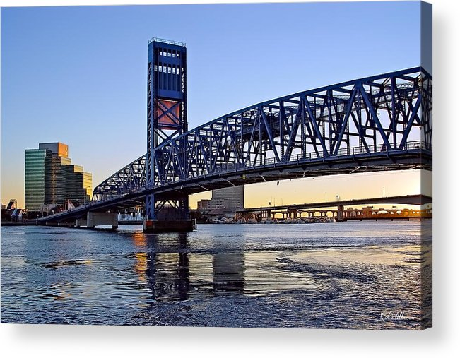 Jacksonville Acrylic Print featuring the photograph Main Street Bridge At Sunset by Rick Wilkerson