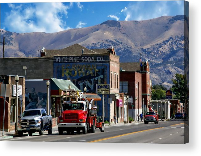 Street Acrylic Print featuring the photograph Main Town Street by Anthony Dezenzio