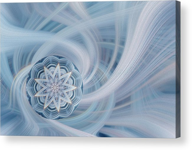 Abstract Acrylic Print featuring the photograph Manifest Beauty In Blue by Linda Phelps