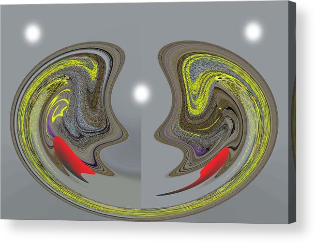 Abstract Acrylic Print featuring the digital art Many Things To See by Giles b Liddell