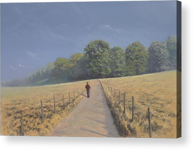 Landscape Acrylic Print featuring the painting Mapledurham by Richard Picton