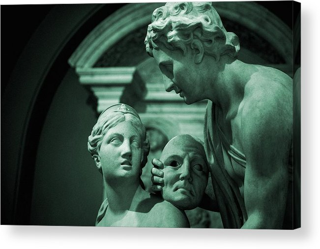Art Acrylic Print featuring the painting Marble Statue Catus 1 No. 2 H B by Gert J Rheeders