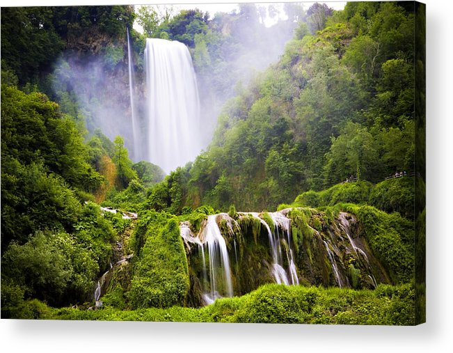 Italy Acrylic Print featuring the photograph Marmore Waterfalls Italy by Marilyn Hunt
