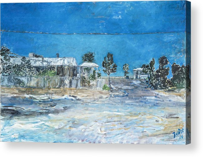 Australia Acrylic Print featuring the painting Marree Village by Joan De Bot