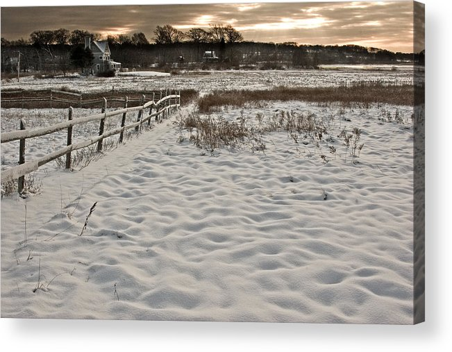 Landscape Acrylic Print featuring the photograph Marshland Cape Elizabeth Maine by Filipe N Marques