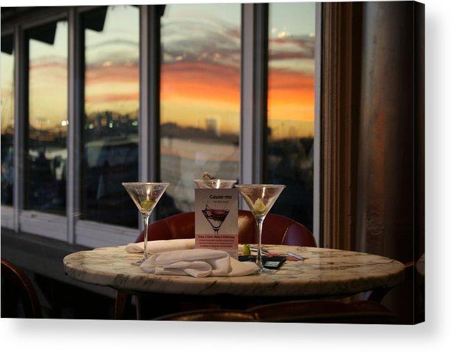 Martini Acrylic Print featuring the photograph Martini At Sunset by Joshua Sunday