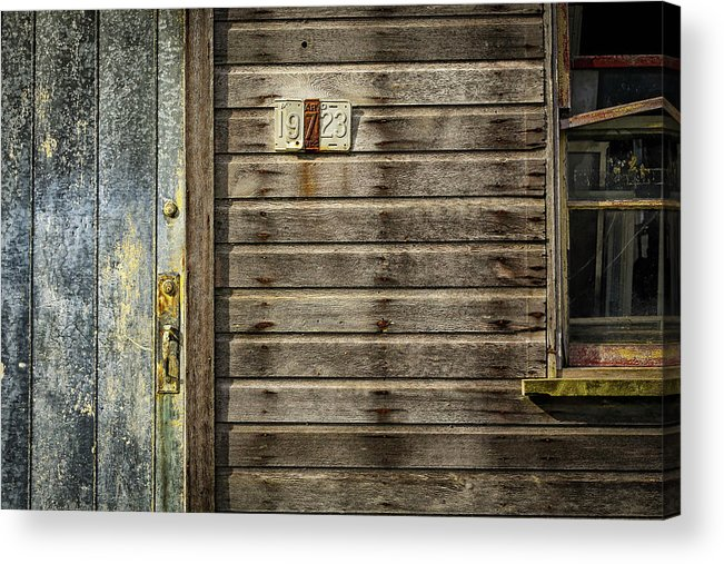 This Historic Mill Is Located On Reid Road And West Of The Western Maryland Rail Road. Acrylic Print featuring the photograph Maryland 19723 by Pat Goodwin