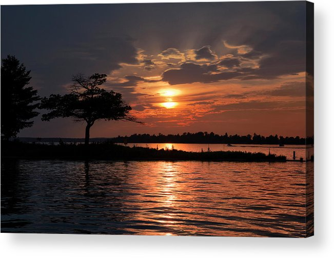 May Acrylic Print featuring the photograph May Sunset At Detroit Point by Ron Wiltse