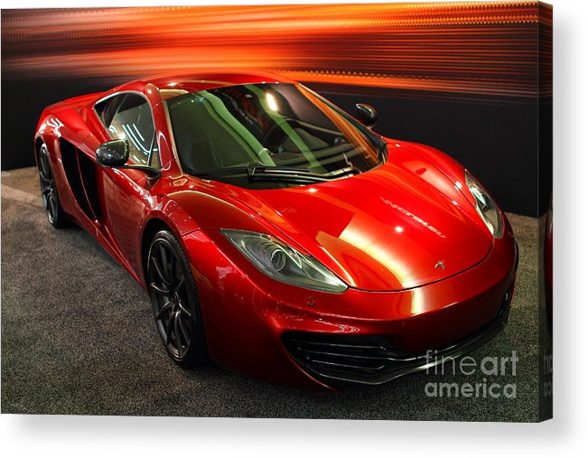 Wingsdomain Acrylic Print featuring the photograph Mclaren Mph-12c Sportscar by Wingsdomain Art and Photography