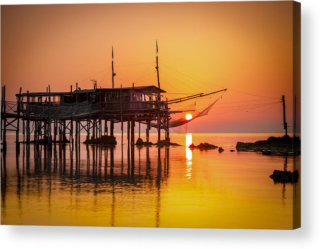 Abruzzo Acrylic Print featuring the photograph Mediterranean Sunrise by Antonio Violi