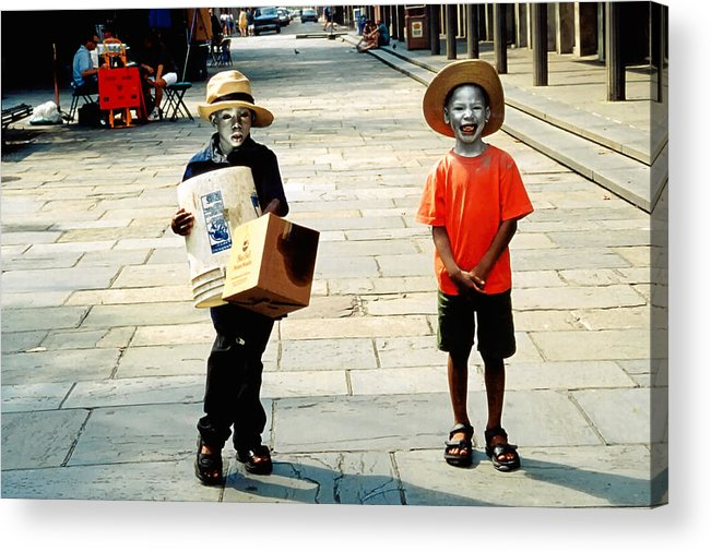 Big Easy Acrylic Print featuring the photograph Memories Of A Better Time The Children Of New Orleans by Christine Till