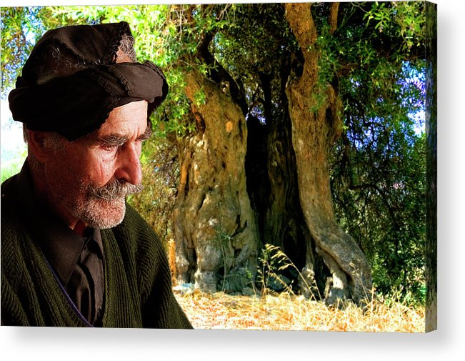 Old Man Acrylic Print featuring the photograph Memories Of Time by Manolis Tsantakis