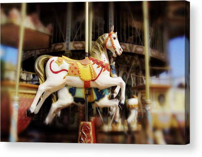 Carnival Acrylic Print featuring the photograph Merry Go Round by Han Van Vonno