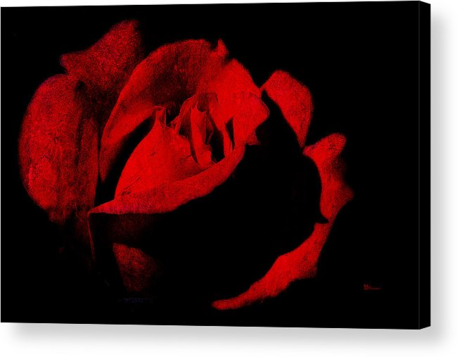 Seduction Acrylic Print featuring the digital art Seduction In Red by Max Steinwald