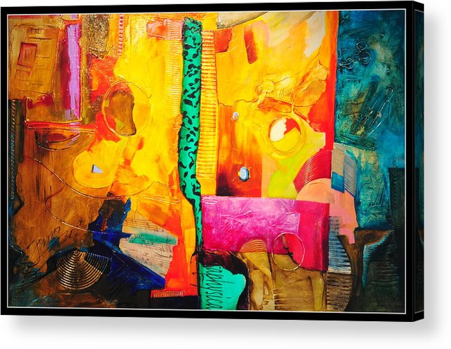 Abstract Acrylic Print featuring the painting Metaphysical Discurs by Jacek Ungierat - Jung