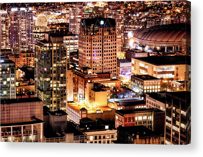 Vancouver Acrylic Print featuring the photograph Metropolis Vancouver Mdccxv by Amyn Nasser