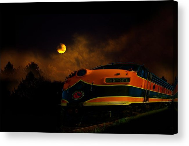 Night Acrylic Print featuring the photograph Midnight Express by The Stone Age