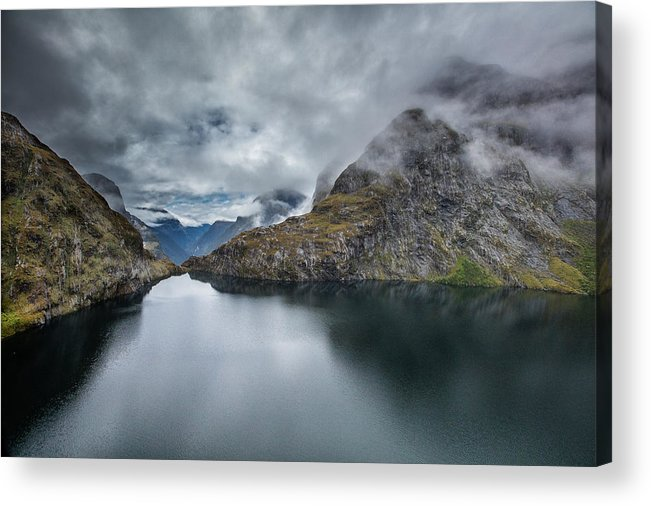 Landscape Acrylic Print featuring the photograph Milford Sound by Steven Hirsch