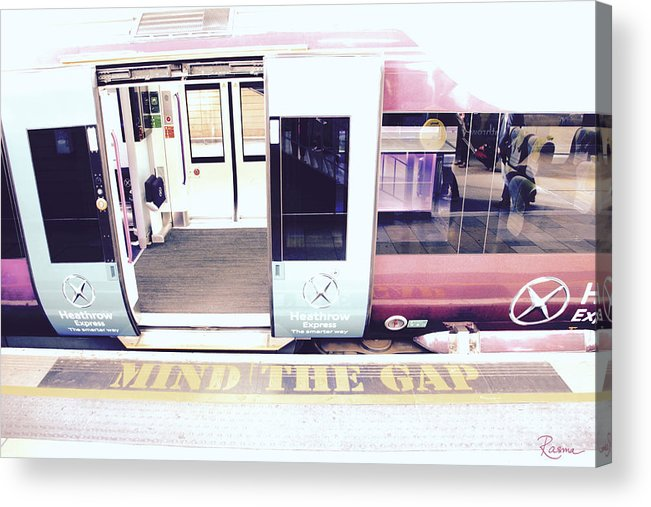 Tube Acrylic Print featuring the photograph Mind The Gap by Rasma Bertz