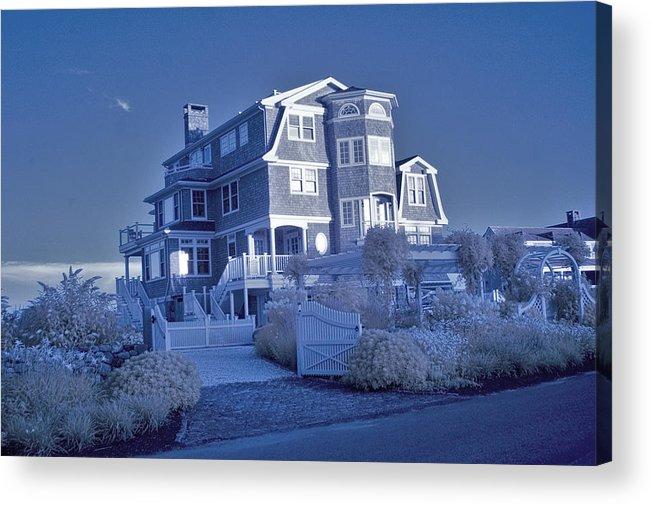 Rhode Island Acrylic Print featuring the photograph Misquamticut Mansion by Dimitri Meimaris