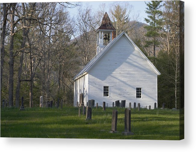 Smoky Mountains Acrylic Print featuring the photograph Missionary Bapist Church by Harold Stinnette