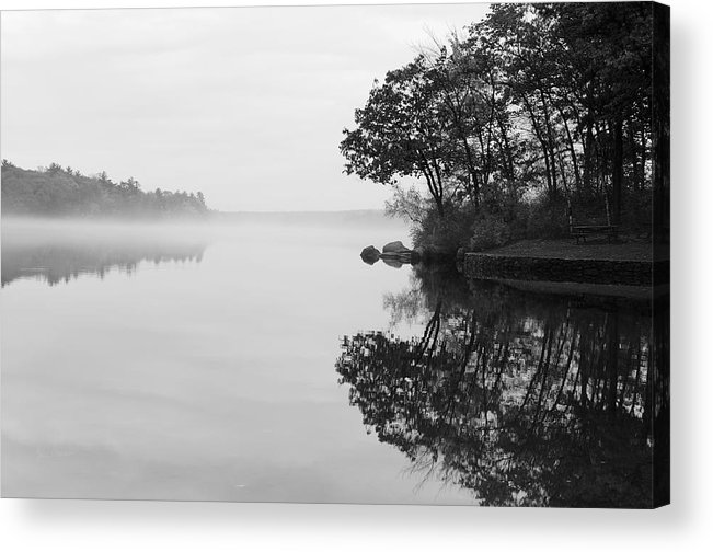 Douglas Acrylic Print featuring the photograph Misty Cove by Luke Moore