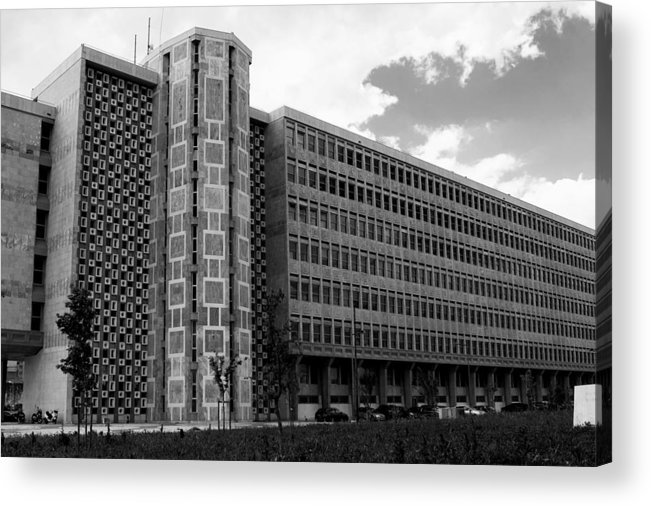 Lisbon Acrylic Print featuring the photograph Modern Lisbon - The Palace Of Justice by Lorraine Devon Wilke