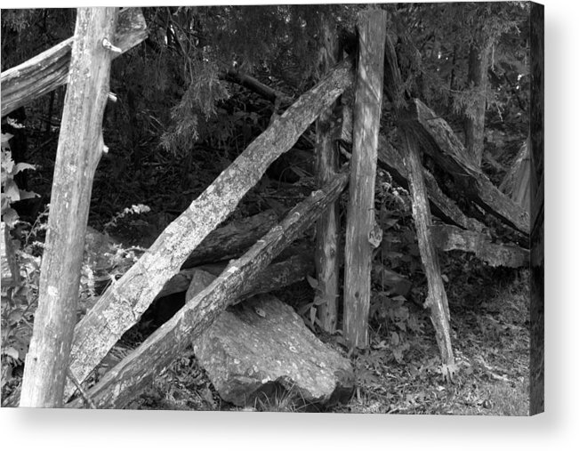 Acrylic Print featuring the photograph Momvisitcarterlanefence1 by Curtis J Neeley Jr