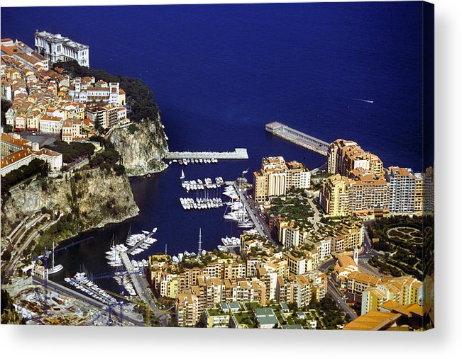 Rich Acrylic Print featuring the photograph Monaco On The Mediterranean by Carl Purcell