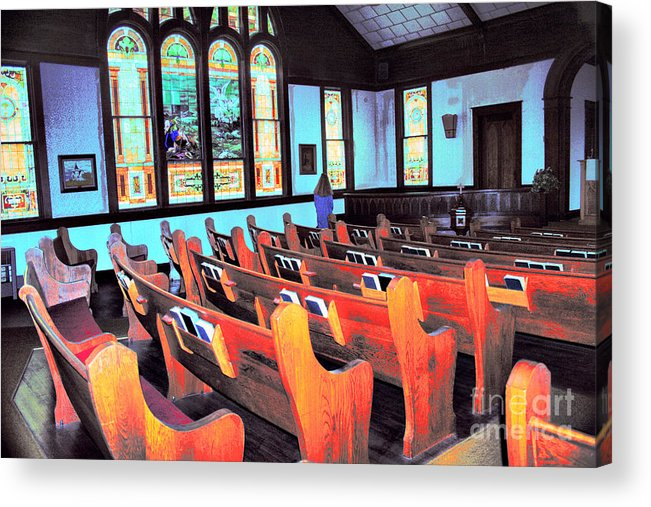 Church Acrylic Print featuring the photograph Monday Morning by David Carter