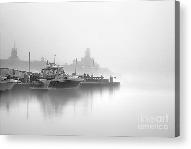 Landscape Photographs Photographs Photographs Acrylic Print featuring the photograph Mono Boat by Hartono Tai