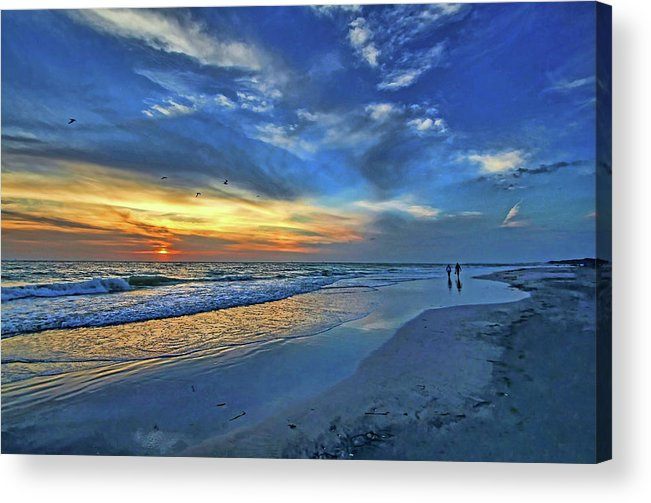 Gulf Of Mexico Acrylic Print featuring the photograph Moody Blues by HH Photography of Florida
