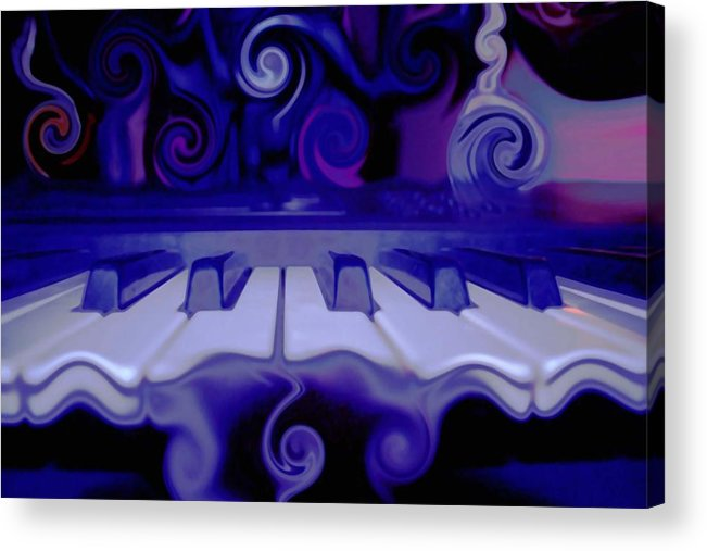 Music Acrylic Print featuring the photograph Moody Blues by Linda Sannuti