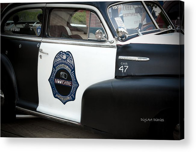 Chevrolet Acrylic Print featuring the photograph Moonshine Patrol by DigiArt Diaries by Vicky B Fuller