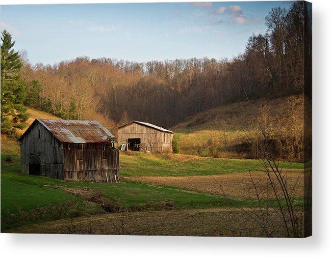 Kentucky Acrylic Print featuring the photograph Morgan County Farm Valey by Douglas Barnett