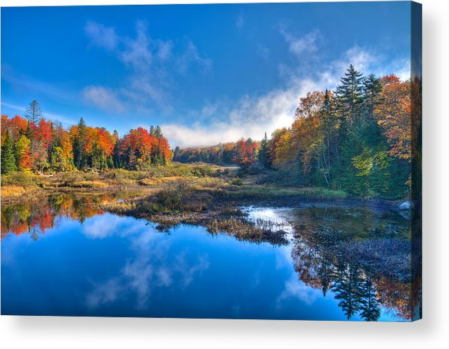 Morning Fog On The Moose River Acrylic Print featuring the photograph Morning Fog On The Moose River by David Patterson