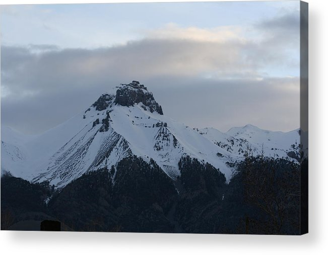 Mountain Acrylic Print featuring the photograph Morning Mountain Snow by Gregory Jeffries
