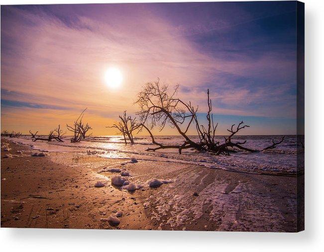 Sea Acrylic Print featuring the photograph Morning On Boneyard Beach by Steven Ainsworth