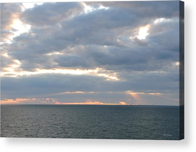 Sky Acrylic Print featuring the photograph Morning Seascape by Bill Perry