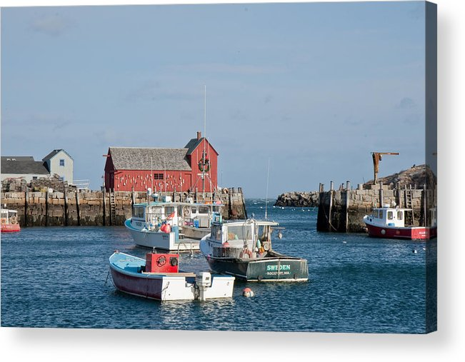 Rockport Acrylic Print featuring the photograph Motif Number 1 Rockport Ma by Deborah Squires