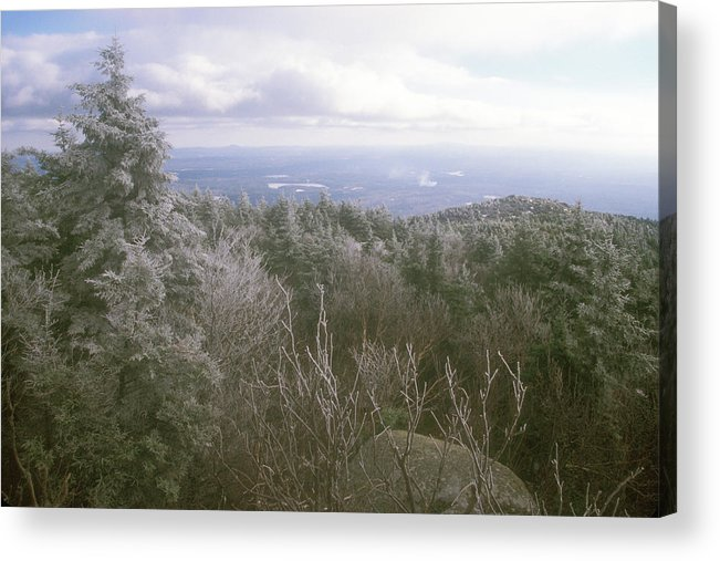 New Hampshire Acrylic Print featuring the photograph Mount Monadnock Ice Storm by John Burk