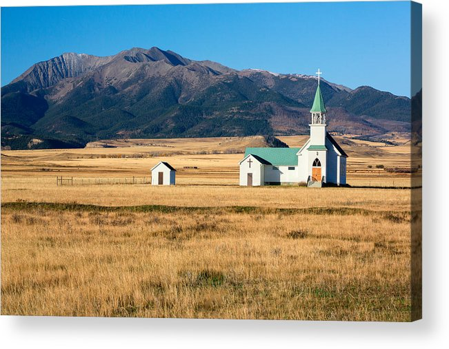 Church Acrylic Print featuring the photograph Mountain Chapel by Todd Klassy