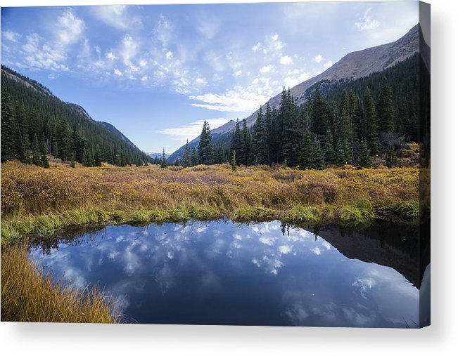 Clear Creek County Acrylic Print featuring the photograph Mountain Pond And Sky by Joe Miller