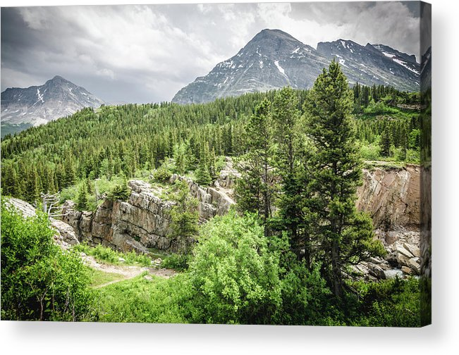 Glacier Acrylic Print featuring the photograph Mountain Vistas by Margaret Pitcher