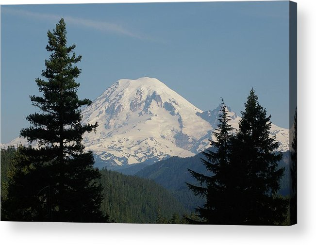 Mt Rainer Acrylic Print featuring the photograph Mt Rainer From The Hills In Packwood Wa by Jeff Swan