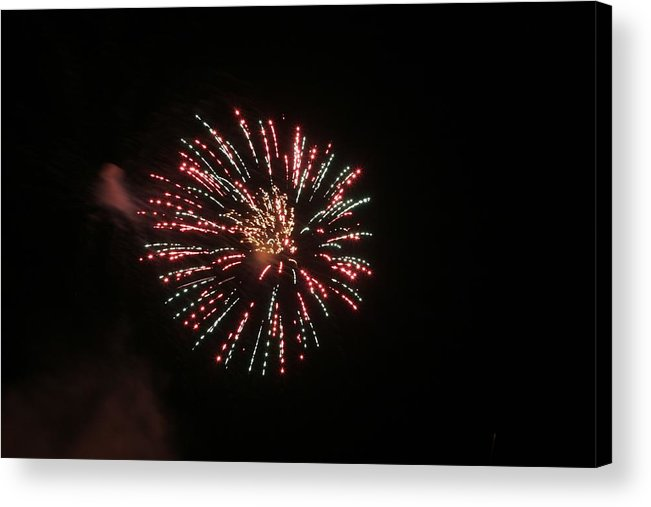 Nighttime. Night Time. Firework Acrylic Print featuring the photograph Multi by Troy Jackson